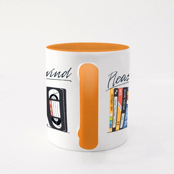 Please Rewind . Colour Mugs