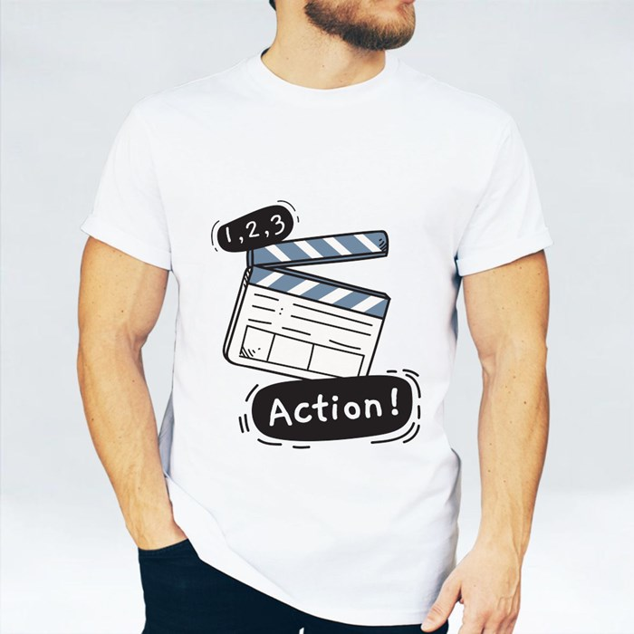 1, 2 ,3 and Action T-Shirts
