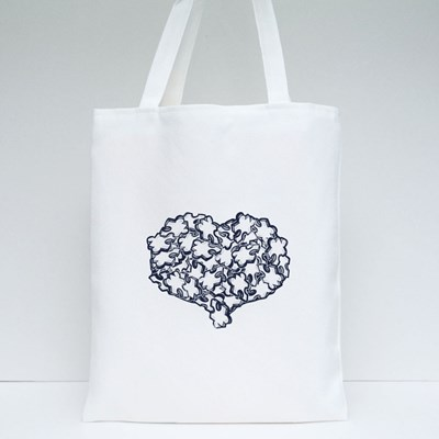 Heart Full of Puzzle Tote Bags