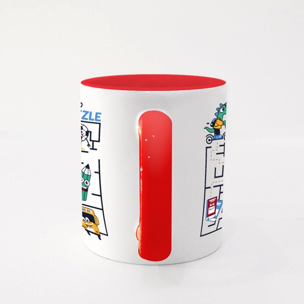 Dino Activities Puzzle Colour Mugs