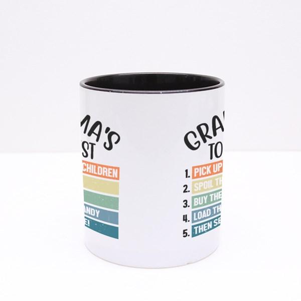 Grandma's to Do List Colour Mugs