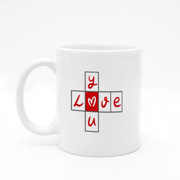 Love You Crossword Puzzle Colour Mugs