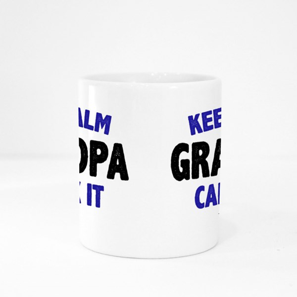 Keep Calm Grandpa Can Fix It Colour Mugs