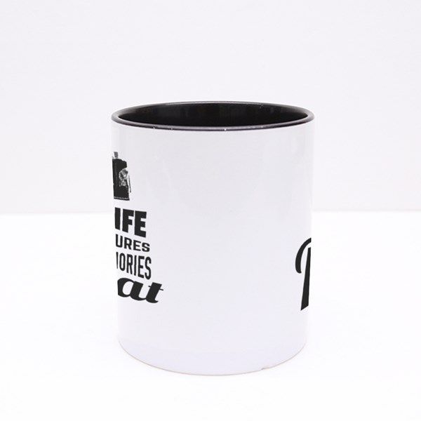 Live Life Repeat Colour Mugs