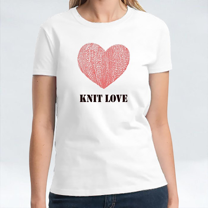 Knit Love With Pink Love T-Shirts