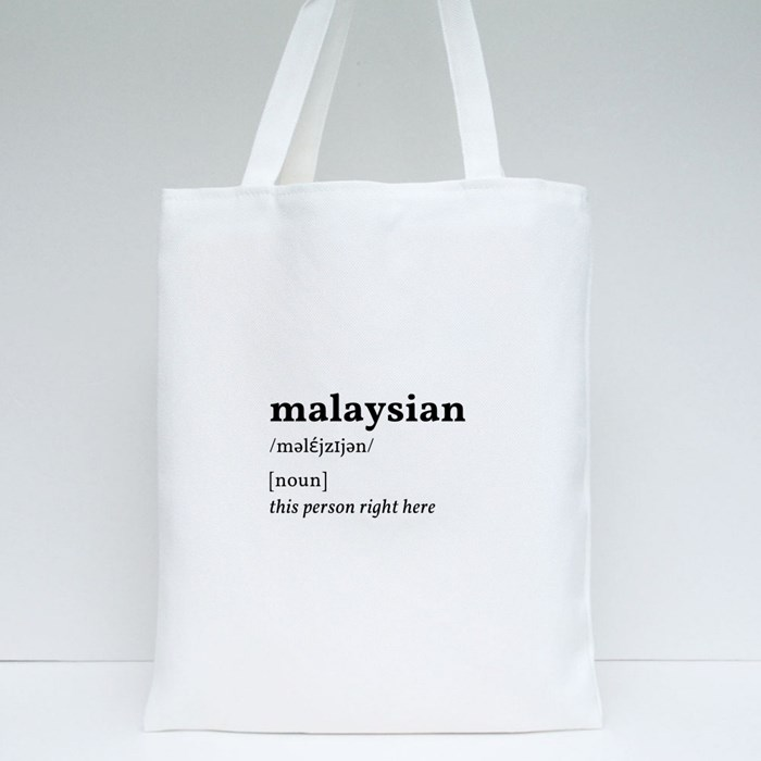 Malaysian: This Person Right Here Tote Bags
