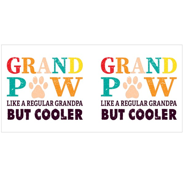 Grand Paw Funny Text Colour Mugs
