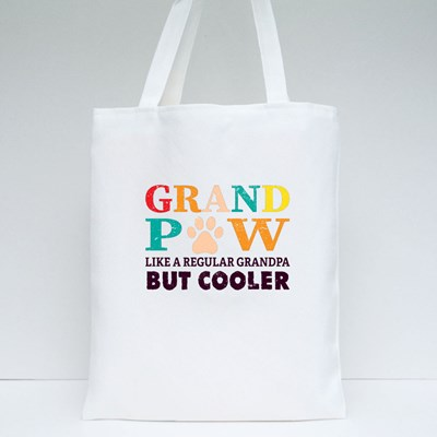 Grand Paw Funny Text Tote Bags