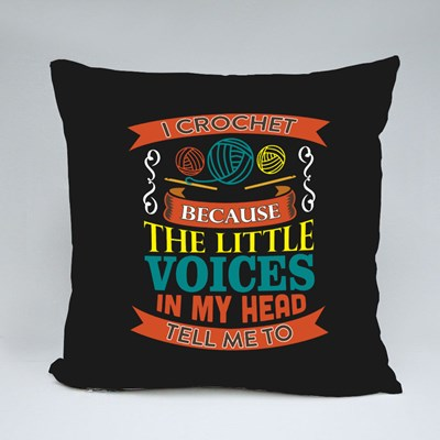 The Little Voices in My Head Throw Pillows