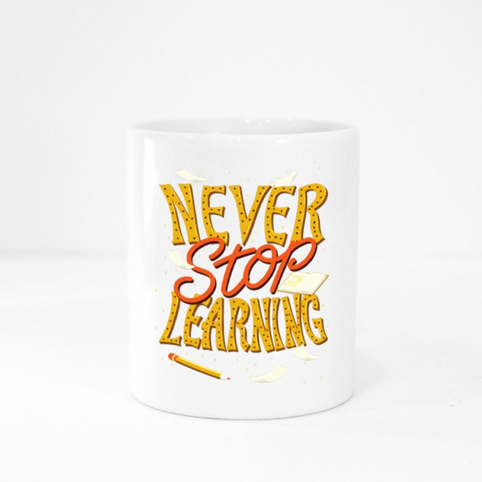 Never Stop Learning Colour Mugs