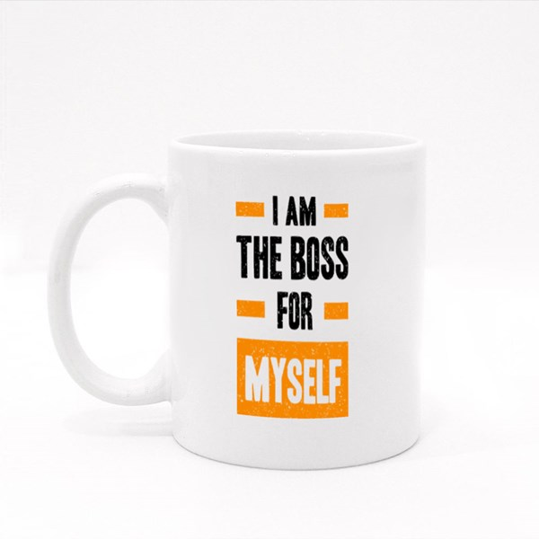 I Am the Boss for Myself Colour Mugs