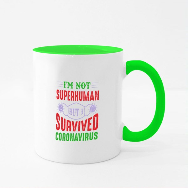 I'm Not Superhuman Colour Mugs