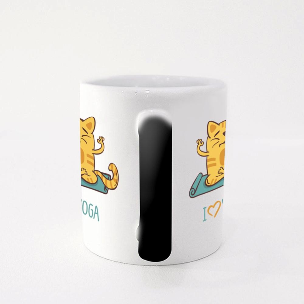 Cat, I Love Yoga Magic Mugs