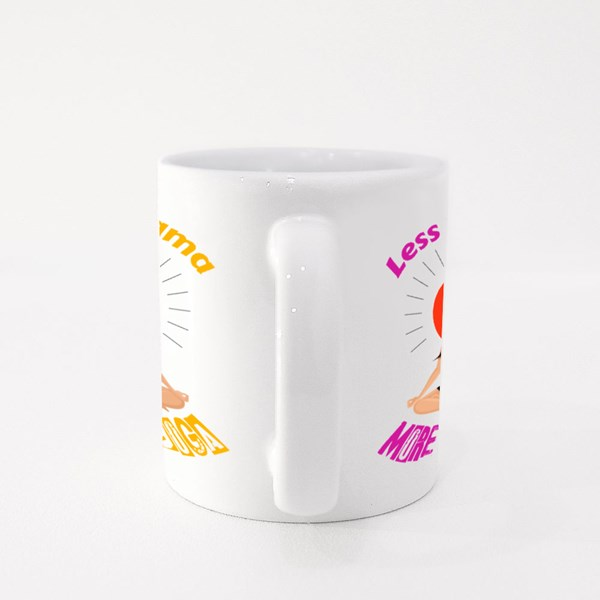 Less Drama More Yoga Colour Mugs