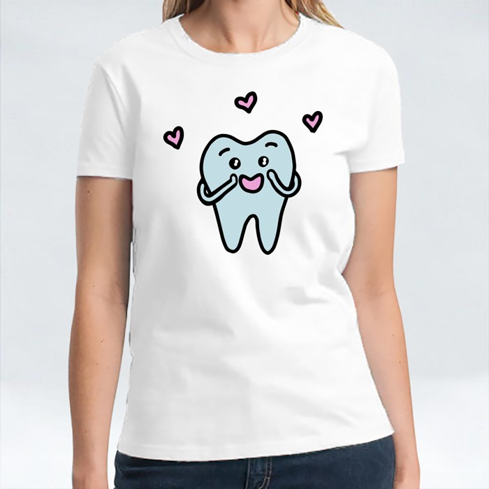 Cartoon Tooth in Love T-Shirts