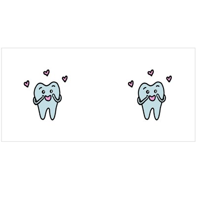 Cartoon Tooth in Love Magic Mugs