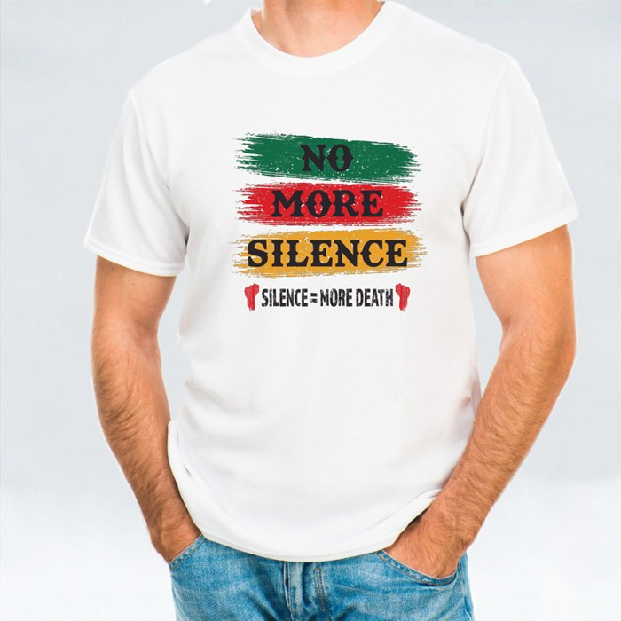 No More Silence Text T-Shirts