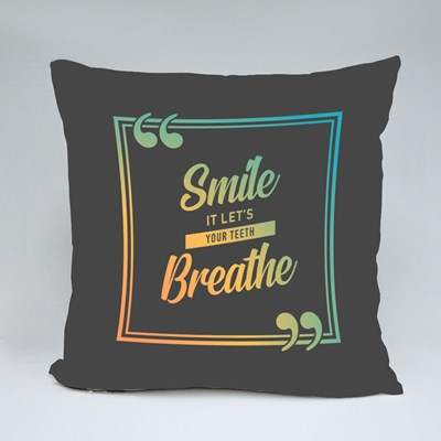 Smiling Let Your Teeth Breathe Throw Pillows