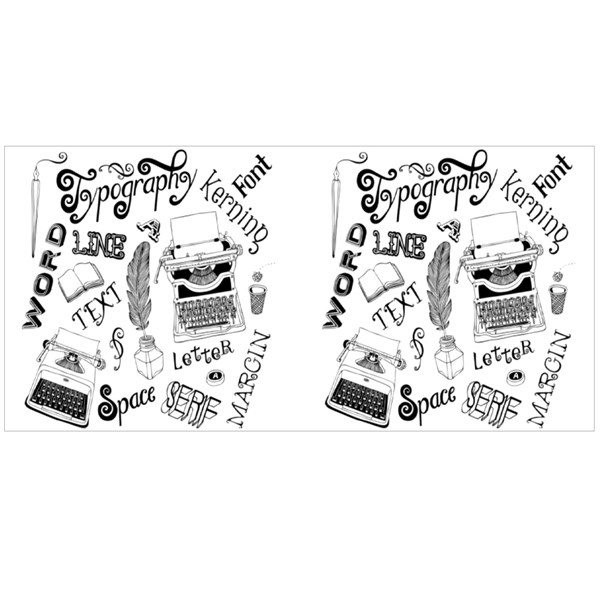 Typography Vector Doodles Colour Mugs