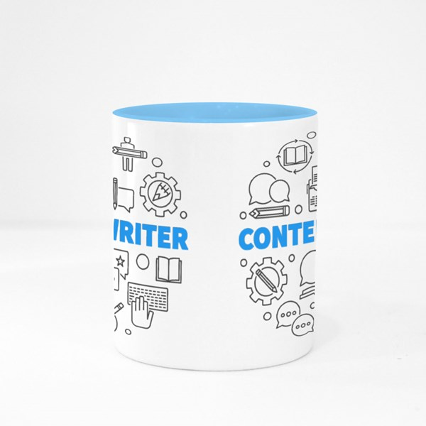 Content  Writer Colour Mugs