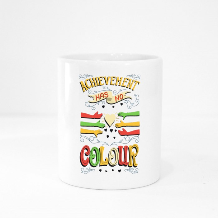 Achievement Has No Colour Colour Mugs