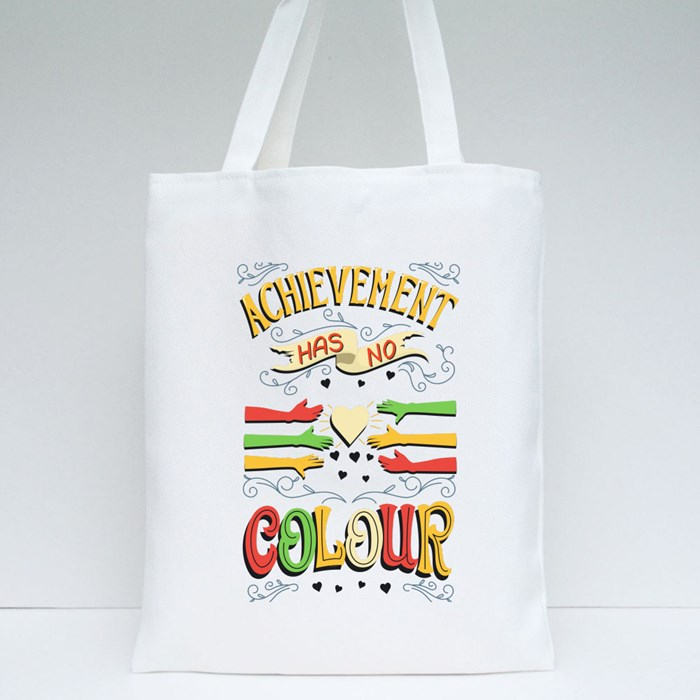 Achievement Has No Colour Tote Bags