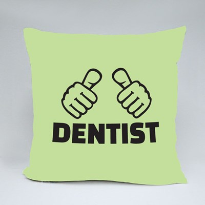 Dentist With Thumbs Throw Pillows
