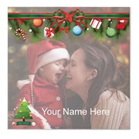 Christmas Greeting With Custom Photo