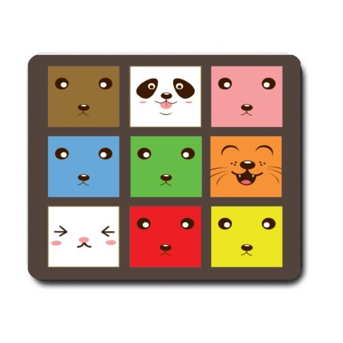 Mousepads > Mousepads (Rectangle) > Collection of Animal Faces