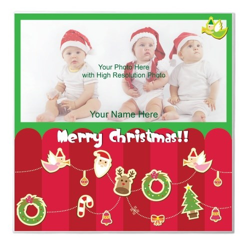 Ceramic Tiles > Ceramic Tiles (Square) > Merry Christmas Cute Photo Custom