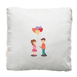 Romantic Couple With Love Balloons