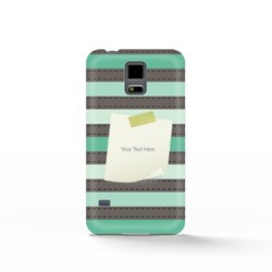 Stripe Pattern With Paper Note